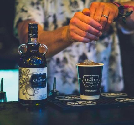 Delve into the dark side of summer at the  #fd2018 The Kraken Rum  Freaky Tiki B...