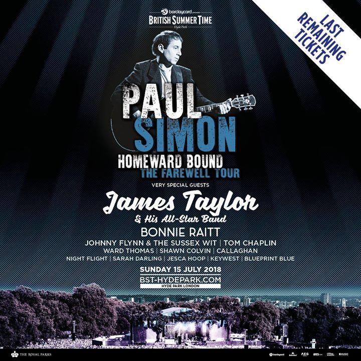 We cannot wait for Paul Simon's huge show at Barclaycard presents BST Hyde Park!...