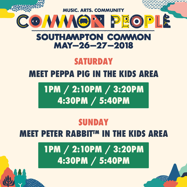 We're ecstatic to announce meet & greet times with Peppa Pig on Saturday & Peter...
