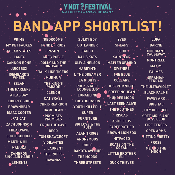 The Band App shortlist is in! ...