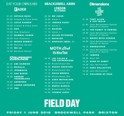 Your Friday stage times are here ️  #fd2018...