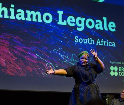 Throwback to last year's FameLab International Final winner Tshiamo Legoale...