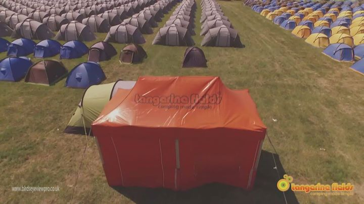 Tangerine Fields pre-pitched tents