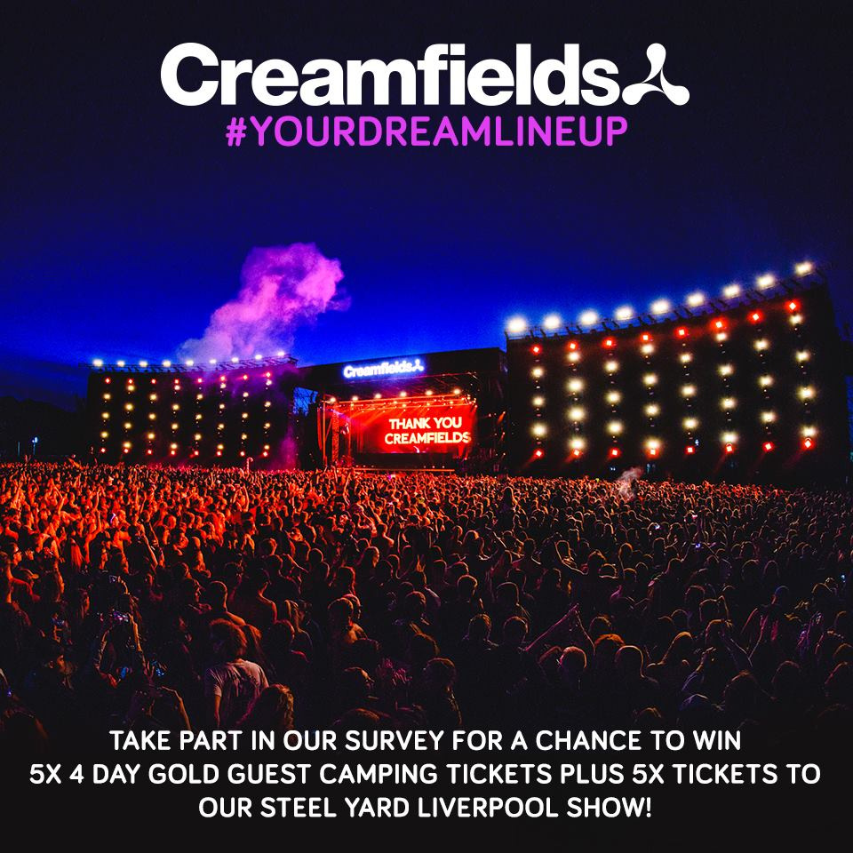 Tell us who you want to see at #Creamfields2019 & tag 5 mates for a chance t...