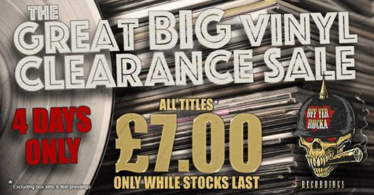 THE GREAT BIG VINYL SALE! ALL VINYL £7 OR LESS....