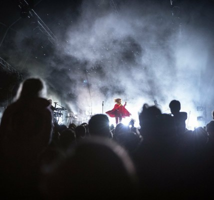 We're in awe of this image of #Goldfrapp taken by James Drury from the #DeerShed...