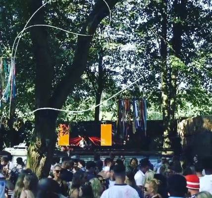 Beautiful sunshine today, just like on our awesome forest stage last July...! W...