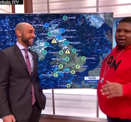 Big Narstie is too much . Here he is doing the weather