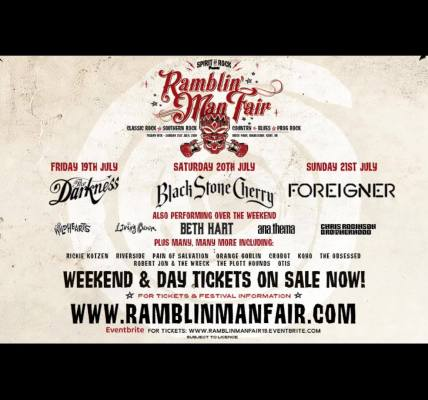 Sunday's Special Guests at Ramblin' Man Fair 2019 are...