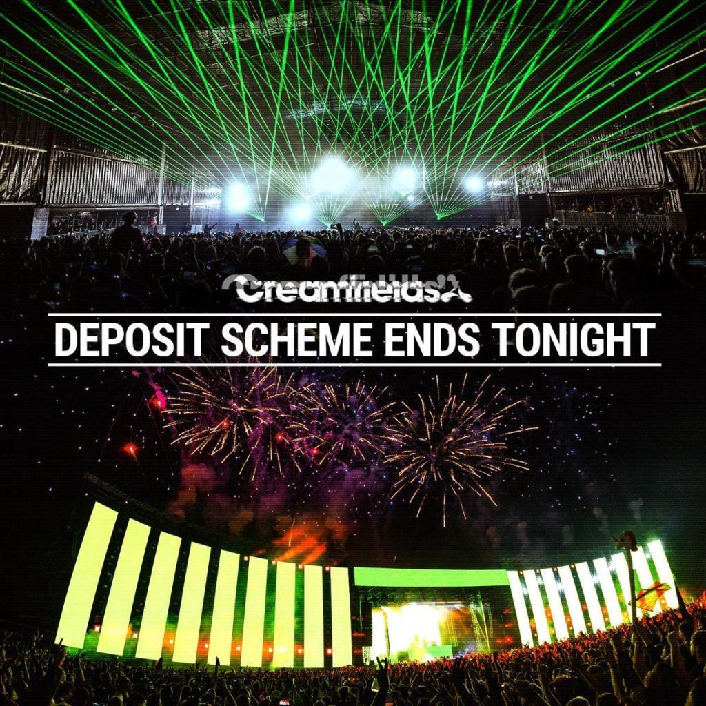 4 part deposit scheme ends tonight at 11pm....