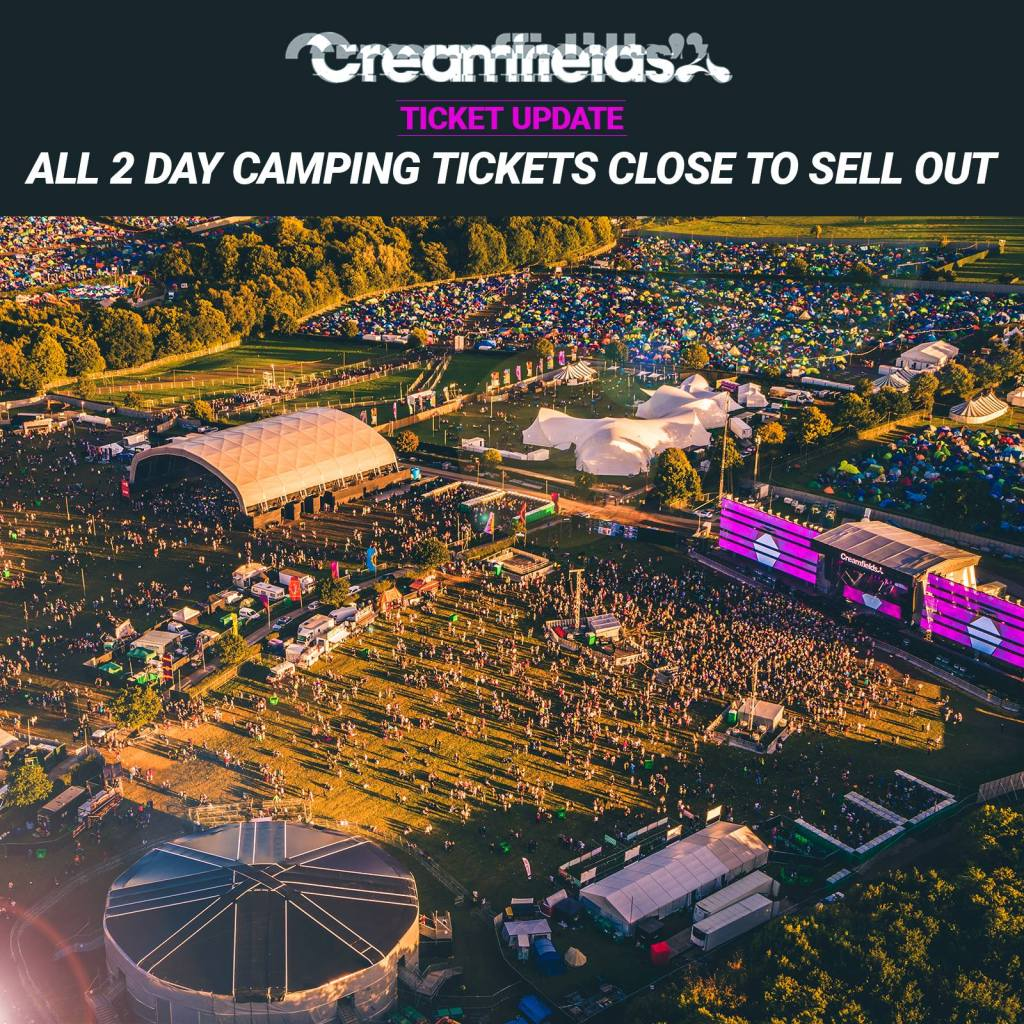 Less than 1000 2 day camping tickets remaining...