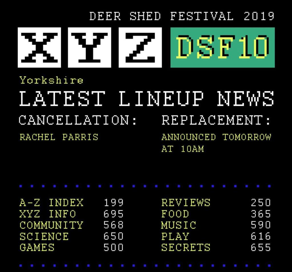 The teletext screen of sad news is back.  We're gutted to announce that Rachel P...