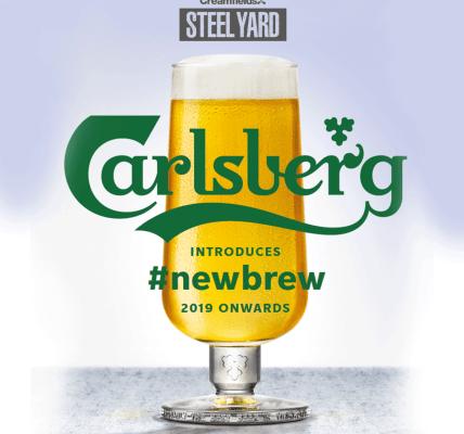 Steel Yard meet Carlsberg's new brew! A perfectly balanced Danish Pilsner, rebre...