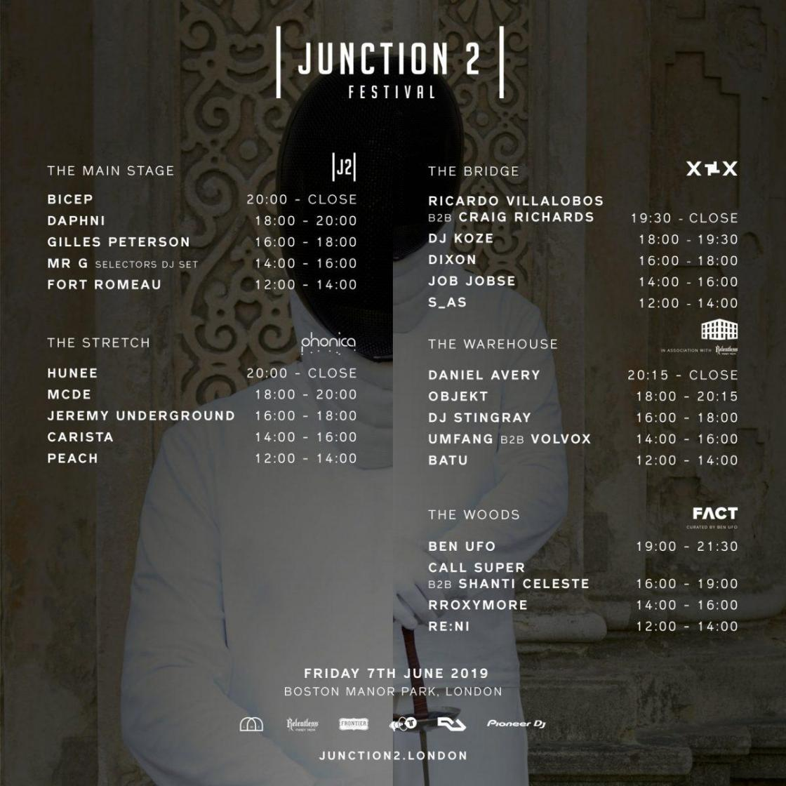 Only 1 week go until we open our doors for Junction 2 2019! Here's the set times...