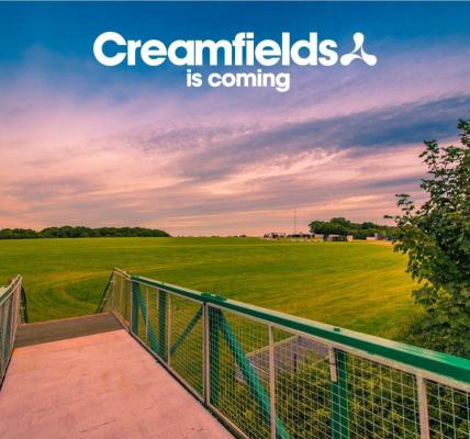 Creamfields site build is well and truly underway!...