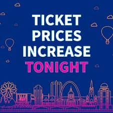 Full price from midnight and day tickets Released...