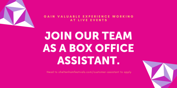 Apply to become a box office assistant with us and you'll get a valuable steppin...