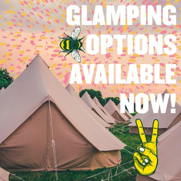 Glamping options are available NOW!...