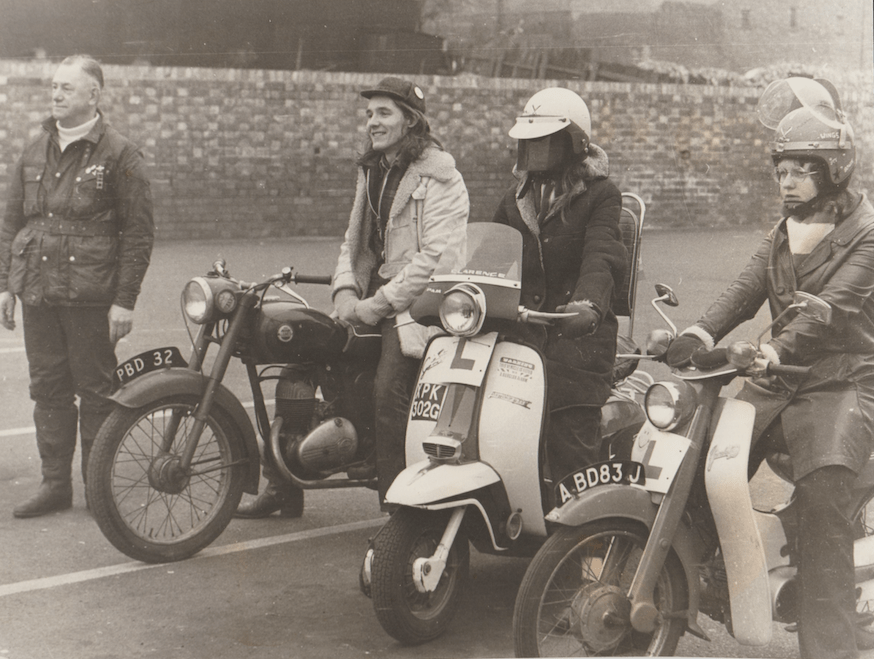 TBT. Who's this taking a bike lesson? About 1970 we think and as coincidences go...