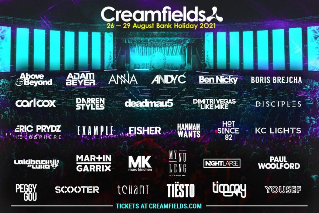 #Creamfields2021 - Tickets from as little as £5 per month...