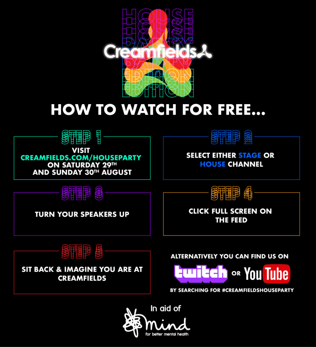 Are you ready for Creamfields House Party Edition 2020?  Here are all the ways i...