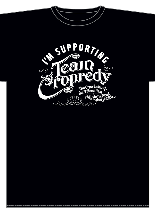 Also in stock are our Team Cropredy tees. Every penny of profit raised goes to o...