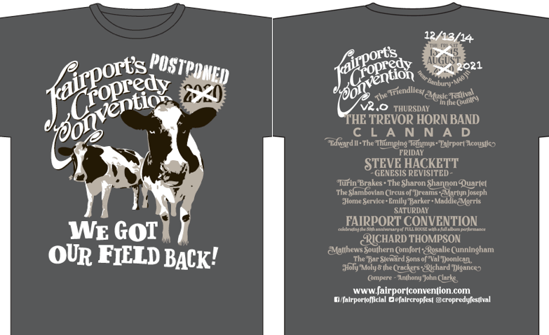 The 2020 'Cows' T Shirts are back in stock folks! www.fairportconvention.com/sho...