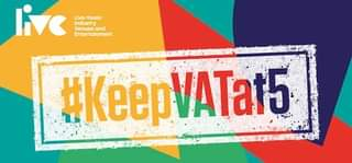 """May be an image of text that says """"live Live music Industry Venues and Entertainment #KeepVATat5 VATat5"""""""