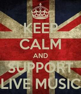 """May be an image of the Tower of London and text that says """"KEE CALM AND SUPPORT LIVE MUSIC"""""""
