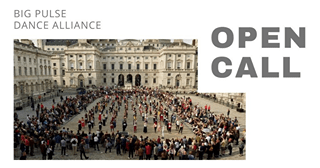 "May be an image of one or more people, outdoors and text that says ""BIG PULSE DANCE ALLIANCE OPEN CALL"""