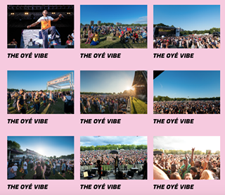 """May be an image of one or more people, outdoors and text that says """"THE OYÉ VIBE THE OYÉ VIBE THE OYÉ VIBE THE OYÉ VIBE THE OYÉ THEEIE VIBE THE OYÉ VIBE THE OYÉ VIBE THE OYÉ VIBE THE OYÉ VIBE"""""""