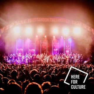 """May be an image of one or more people, people playing musical instruments and text that says """"STANDON CALLING HERE FOR CULTURE"""""""