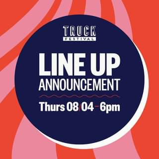 """May be an image of text that says """"TRUCK FESTIVAL LINE UP ANNOUNCEMENT Thurs Thurs08/04-6pm 08/04 08"""""""