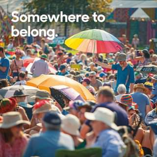 "May be an image of one or more people, outdoors and text that says ""Somewhere to belong."""