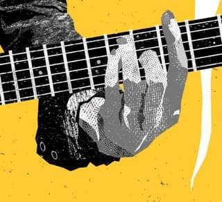 May be an image of playing a musical instrument and guitar