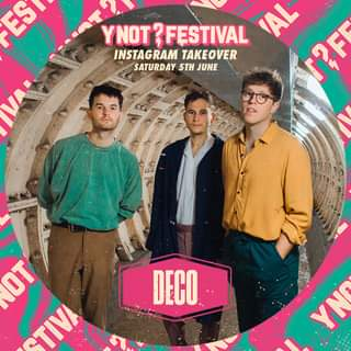 """May be an image of 3 people, people standing and text that says """"ES S YNOT? YNOT&FESTIVAL TAL INSTAGRAM TAKEOVER SATURDAY 5TH JUNE 2F OT TIVA DECO YN"""""""