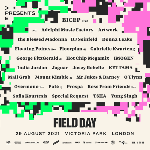 FIELD DAY 2021 FULL LINE UP  Featuring new additions Gabrielle Kwarteng, Hot Ch...
