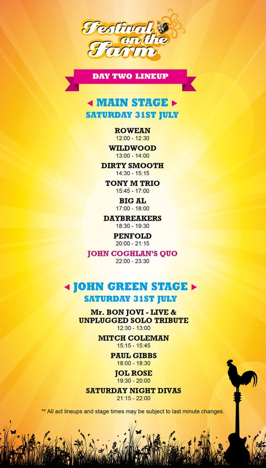 DAY 2: We have an awesome lineup for you today. Day 1 was an absolute belter so ...