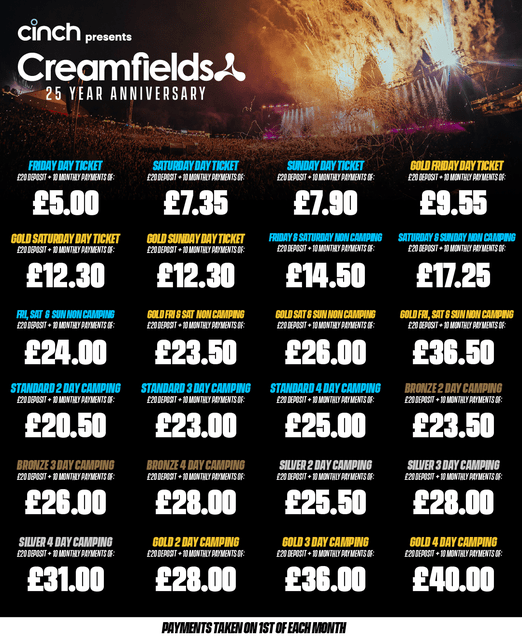 Our 10 part deposit scheme is back for 2022! Secure your ticket for £20 followed...
