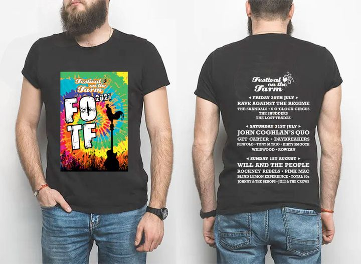Get the festival look with our 2021 FOTF branded black T-Shirts now on sale at o...