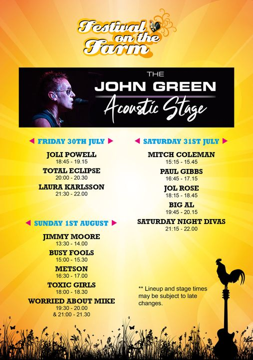To keep the music vibe going, once again we are proud to bring you the John Gree...