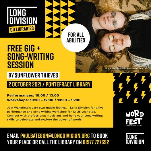 Over the moon to announce our 'Long Division Do Libraries' series with Wakefield...