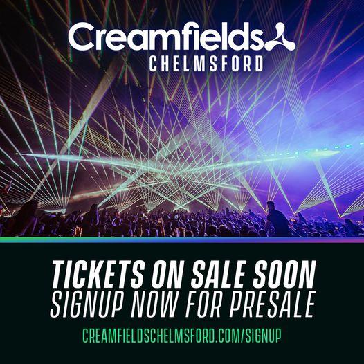 #StayTuned #CreamfieldsChelsmford Signup now  creamfieldschelmsford.com/signup...