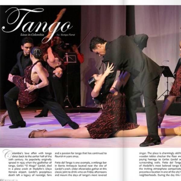 Article dans un magazine sur le Tango