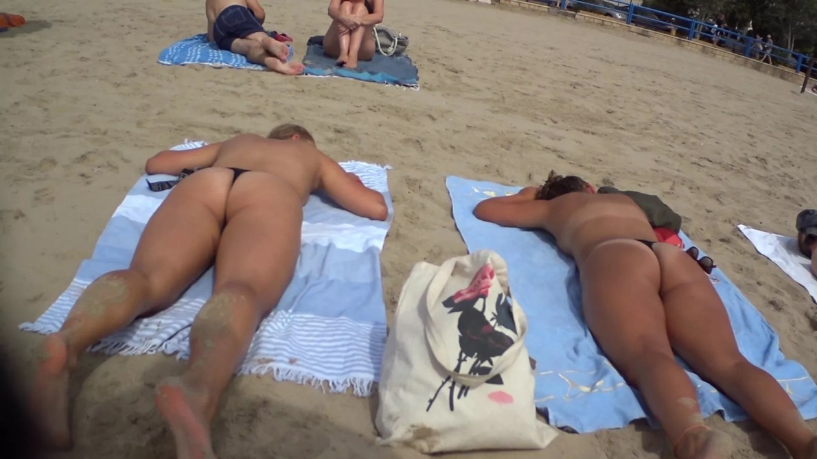 Two Sexy Teen At The Beach