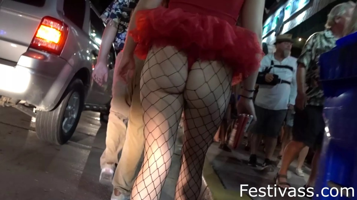 Tutu, Thong And Fishnet
