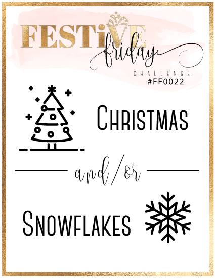 #festivefridaychallenge, #FF0022, Stampin Up, Christmas, Snowflakes