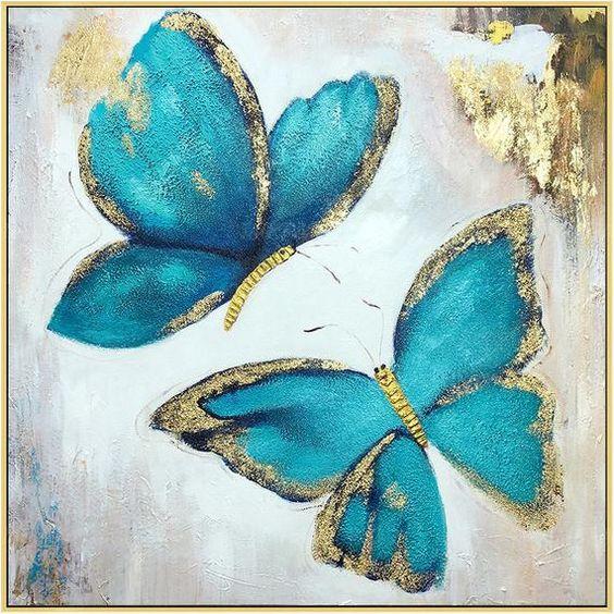 Arany-türkiz pillangók