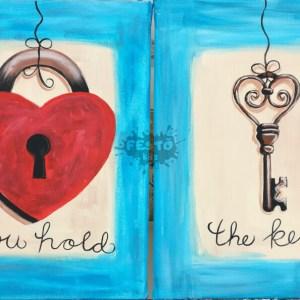 Szerelemlakat páros festés