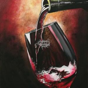 Egy pohár bor otthoni élményfestő szett